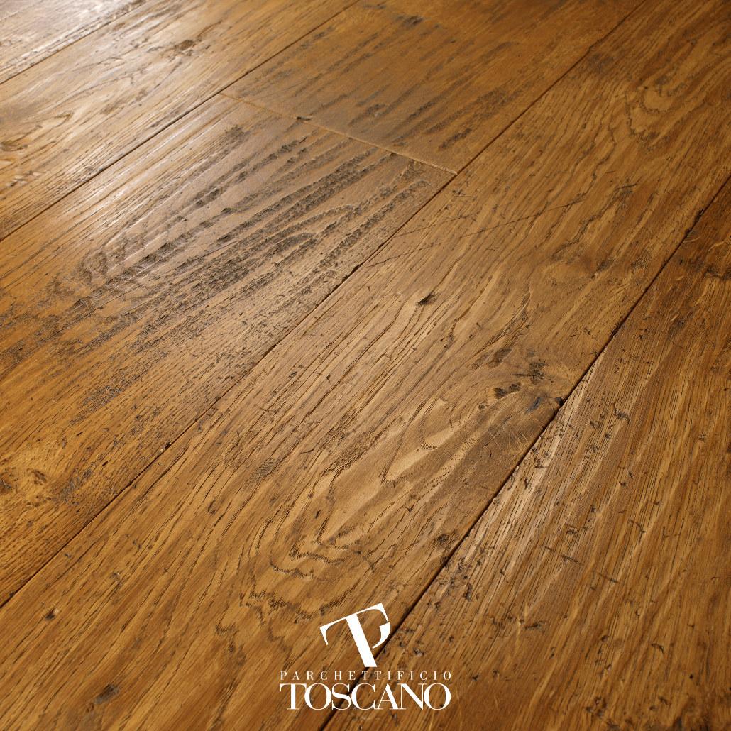 Dąb Quercia Old Dark Walnut deski podłogowe Toscano podłogi drewniane Forestile