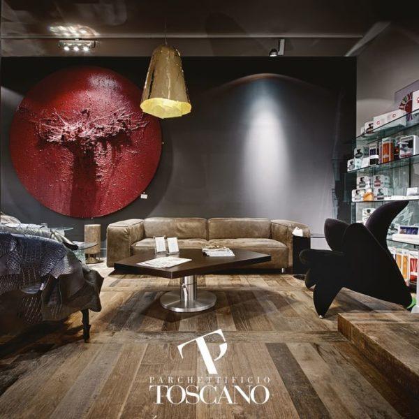 Teak Certified Recycled Old Toscano deski podłogowe Forestile podłogi drewniane