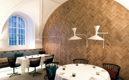 Ekskluzywny parkiet BISCUIT w restauracji IGNIV by Andreas Caminada