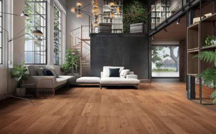 Parkiet drewniany premium MEDOC w ciepłaej tonacji Fiesole od włoskiej marki Listone Giordano