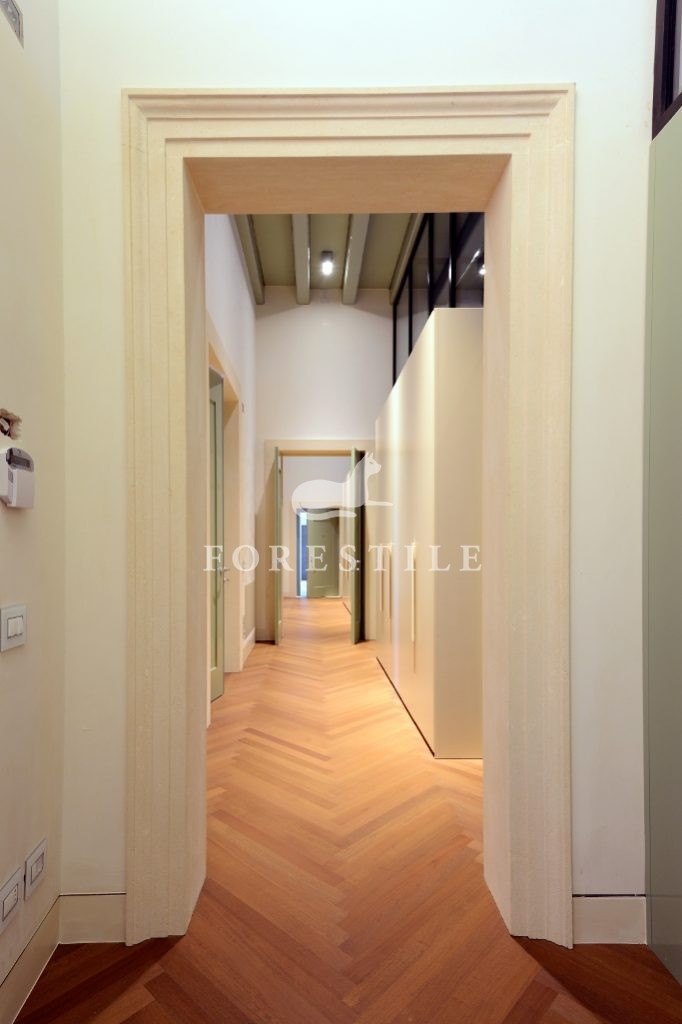 Listone Giordano Parkiet drewniany jodełka klasyczna Dąb Biancospino Michelangelo Classica