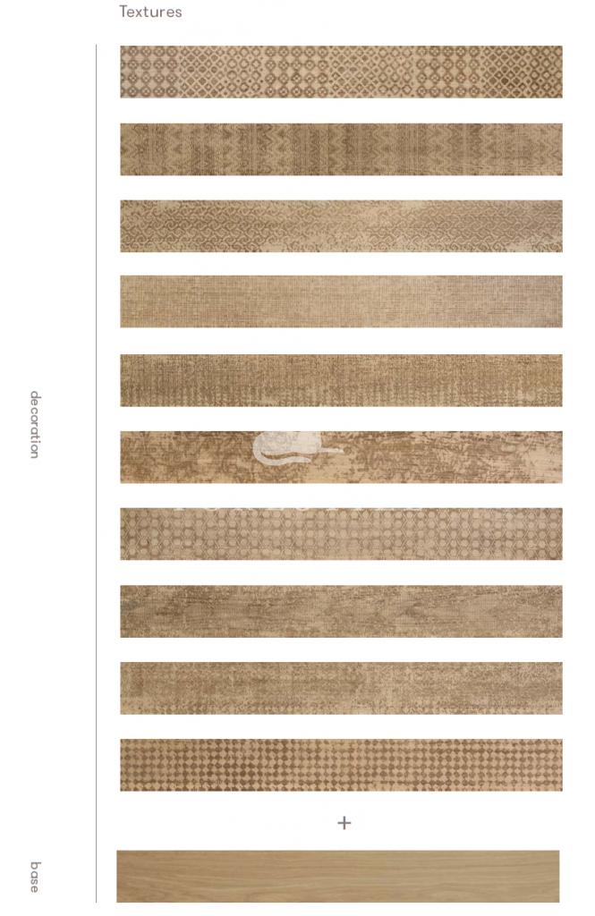 Parkiet drewniany Undici 11/01 laserowo grawerowane wzory