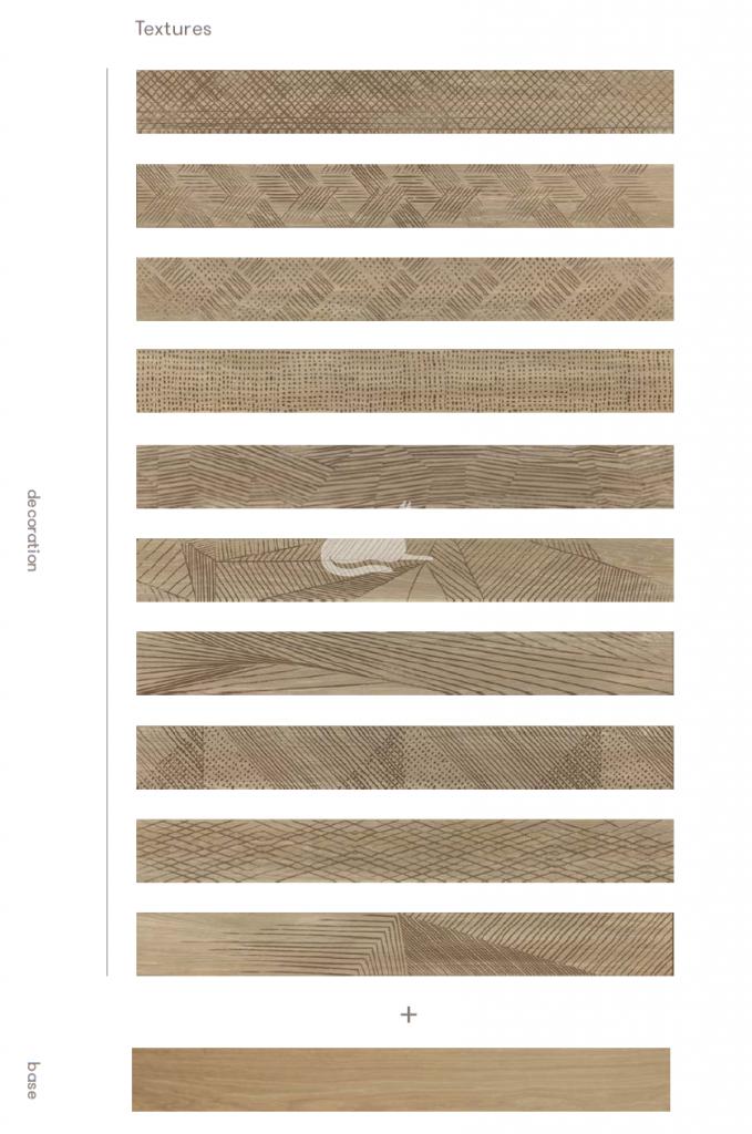 Parkiet drewniany Undici 11/03 laserowo grawerowane wzory