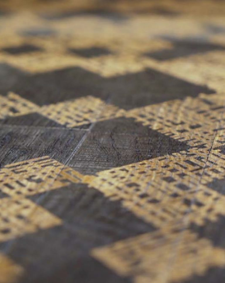 Parkiet drewniany Undici Touché laserowo grawerowane wzory