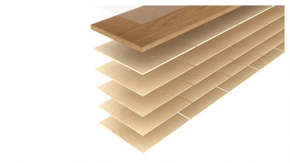 Drewniane deski wielowarstwowe wynalezione iopatentowane przezListone Giordano - idealne naogrzewanie podłogowe.