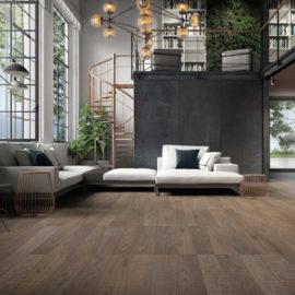 Ekskluzywne deski podłogowe MEDOC w tonacji Siena zaprojektowane przez Michele de Lucchi i Philippe NIgro.