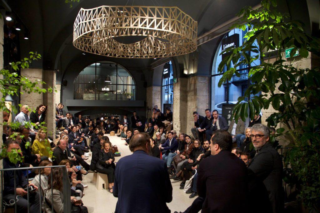 Listone Giordano Arena wMediolanie. Milano Design Week 2019