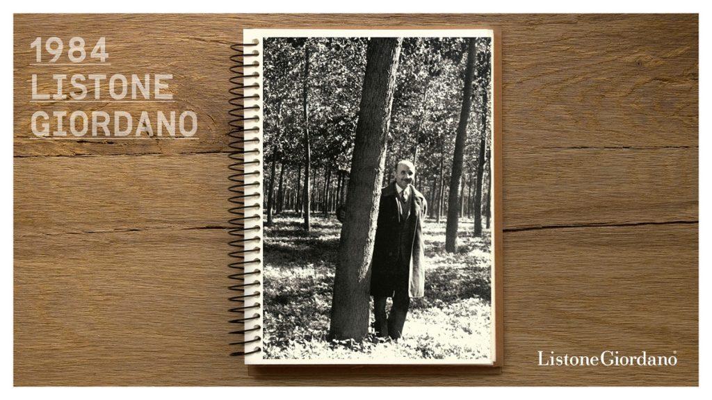 Profesor Guglielmo Giordano twórca wielowarstwowej deski drewnianej.