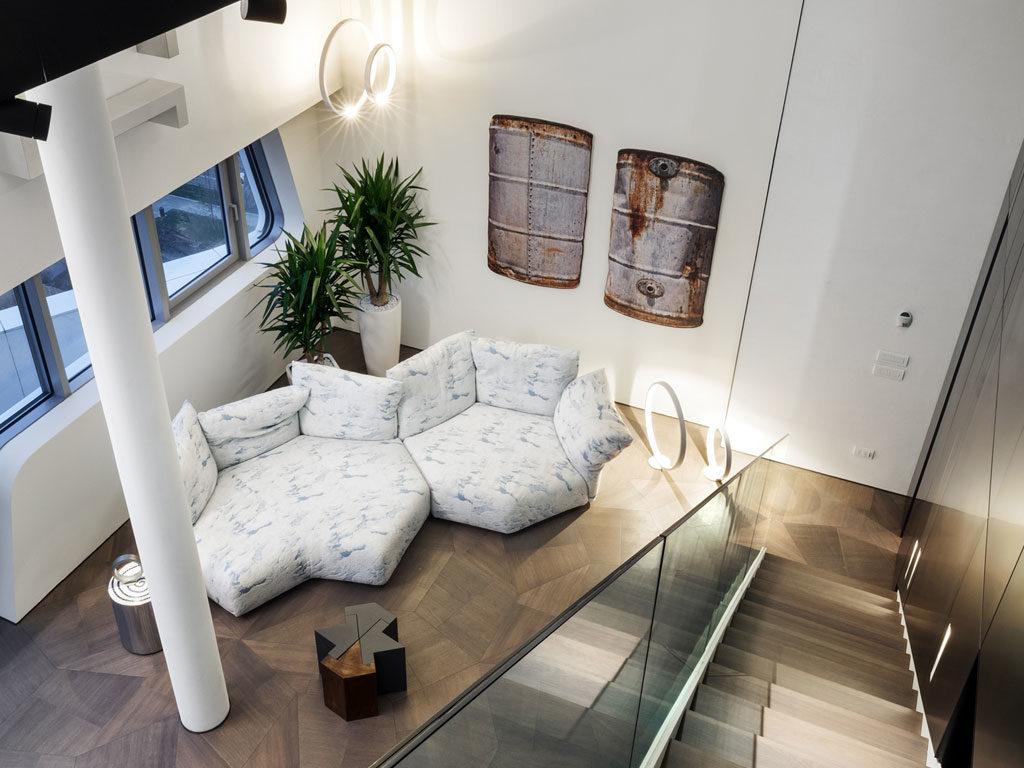 Penthouse ONE-11 zaprojektowany przezZaha Hadid - parkiet dębowy SLIDE