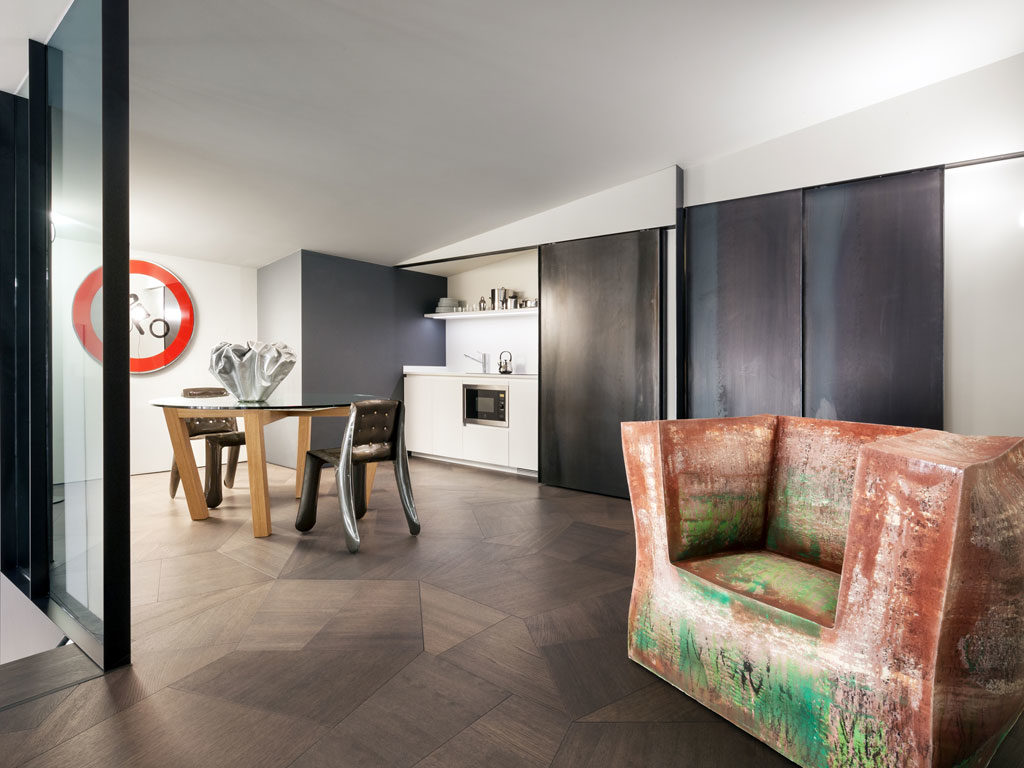 Zaha Hadid projekt penthouse'u ONE-11 - parkiet dębowy SLIDE Tortora