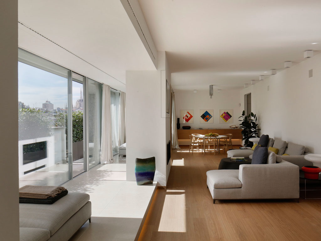 Apartament zwidokiem naMediolan awnim stylowa podłoga Listone Giordano - Civita Heritage traccia