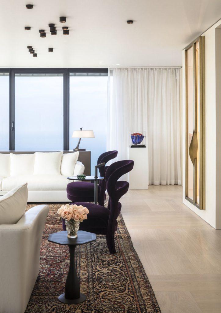 Luksusowy apartament wTel Awiwie. Projekt Irma Orenstein. Dębowy parkiet FOXTROT - Listone Giordano