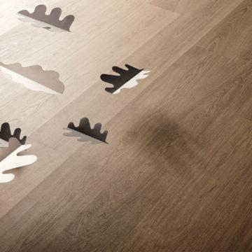 Szare podłogi drewniane od Listone Giordano - Grisaglie GRIGIO ARGILLA