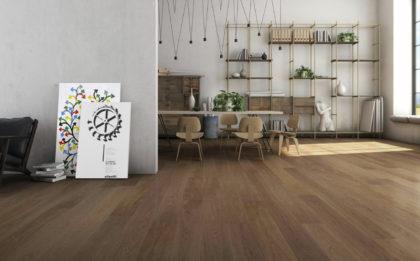 Szare podłogi drewniane Grisaglie GRIGIO ARGILLA parkiet drewniany
