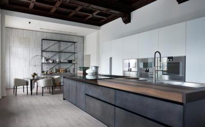 Grisaglie GRIGIO DI MARNA parkit drewniany rekomendowany do kuchni.