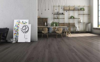 Parkiet drewniany włoskiej marki Listone Giordano - szare podłogi drewniane Grisaglie, tonacja GRIGIO MARINO