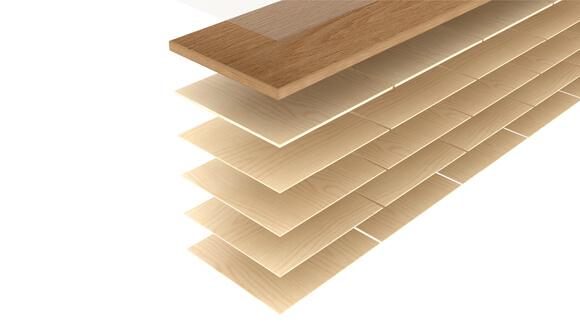 Specjalna konstrukcja deski wielowarstwowej naogrzewanie podłogowe.