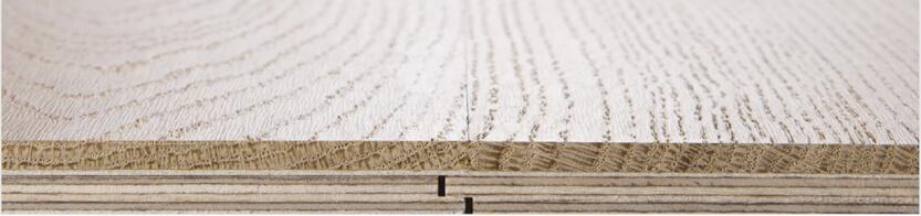Deski wielowarstwowe Listone Giordano posiadają precyzyjnie wykona własne pióro iwpust.